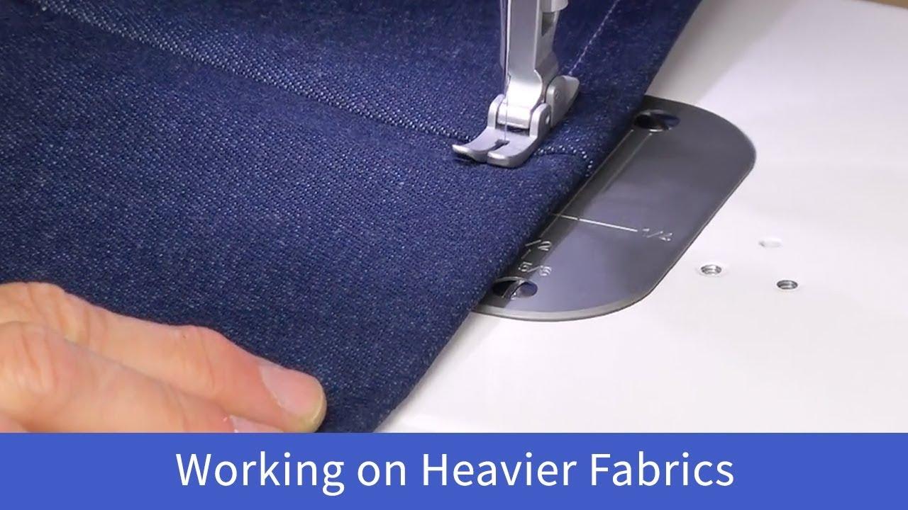 Working on Heavier Fabrics on the Baby Lock Accomplish