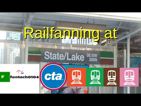 Railfanning at State/Lake Station: Featuring the CTA Pink, Brown, Orange and Green Line Trains