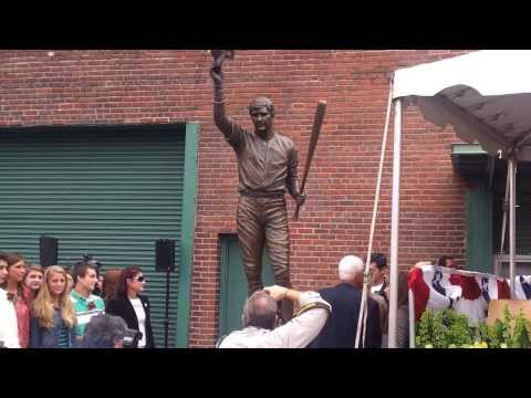 Boston Red Sox Carl Yastrzemski #8 Statue dedication ceremony.