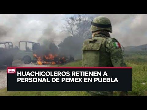 Enfrentamiento entre Guardia Nacional y huachicoleros en Puebla