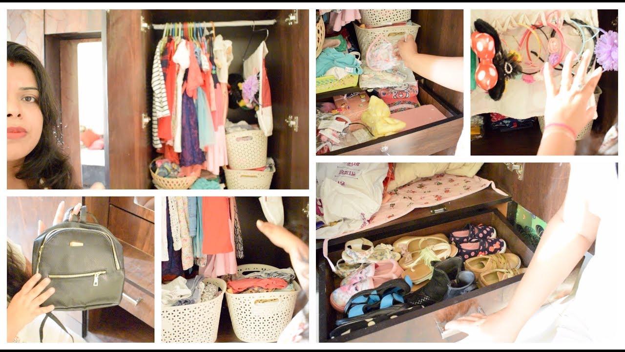 My Daughteru0027s Wardrobe Organization | Kids Closet Organization  INDIAN  WARDROBE TOUR