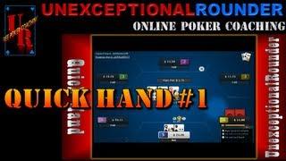 Texas Holdem Poker Online - Hand Review 25nl Heads Up Cash Hold em - HU Online Poker Bovada