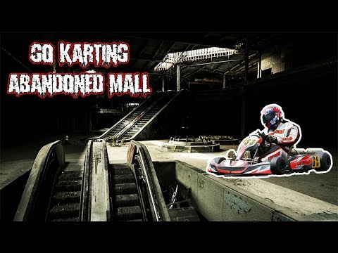 (WE ALMOST GOT CAUGHT) GO KARTING IN AN ABANDONED MALL | PLAYING HIDE & SEEK IN A MALL!