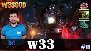 w33 - Timbersaw MID | w33GOD | Dota 2 Pro MMR Gameplay #11