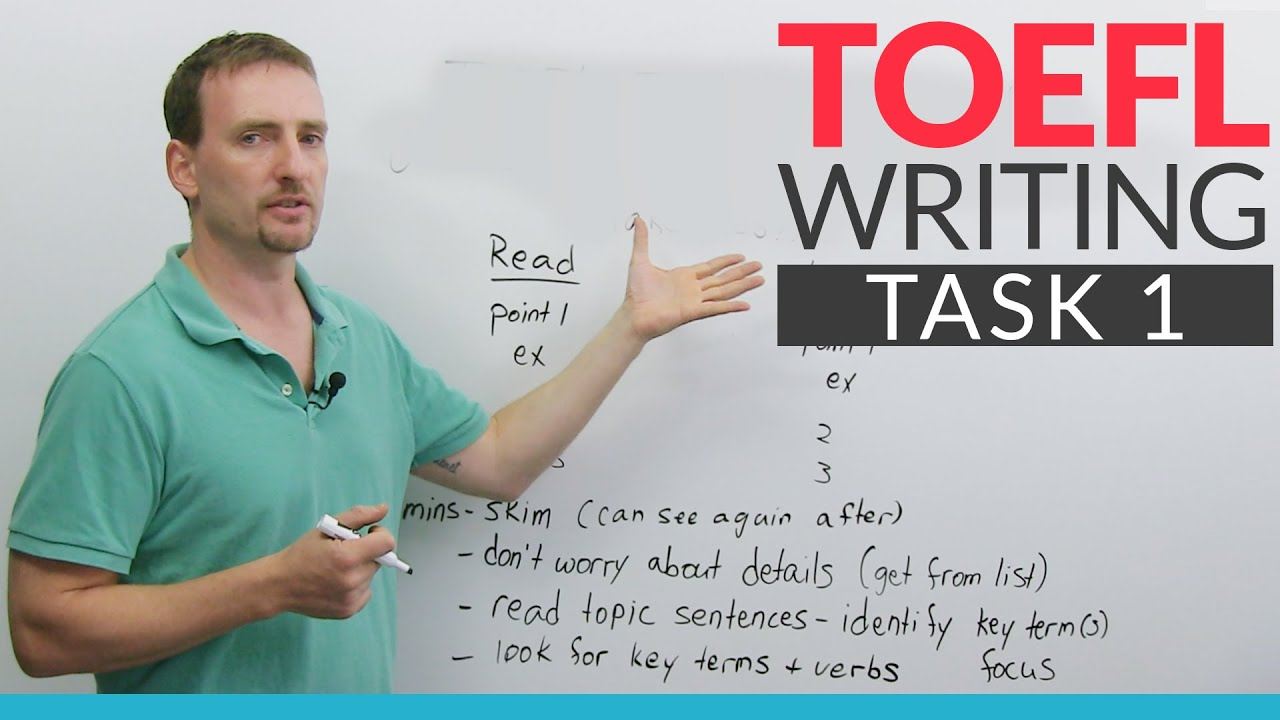 toefl writing task Toefl practice test for integrated writing task 1 - listen to the lecture on this page then read the academic texts that follows on the same topic when you have finished, write a 150 summary on the topic.