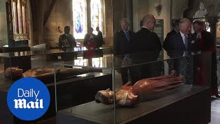 The Queen and Prince of Wales admire new Westminster Abbey gallery