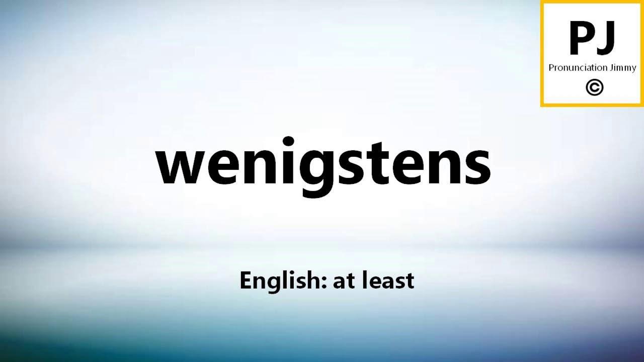 Wenigstens Englisch