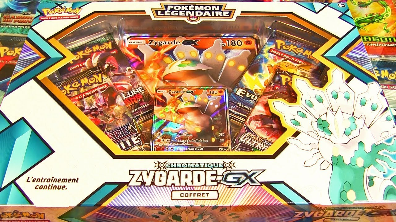 Ouverture du coffret pokemon zygarde gx chromatique fr un legendaire shiny youtube - Legendaire shiney ...
