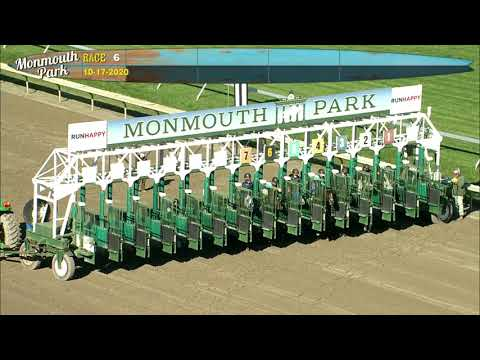video thumbnail for MONMOUTH PARK 10-17-20 RACE 6