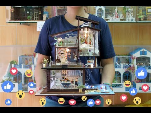 Mô hình nhà gỗ tí hon DIY - đồ chơi mô hình nhà tí hon DIY