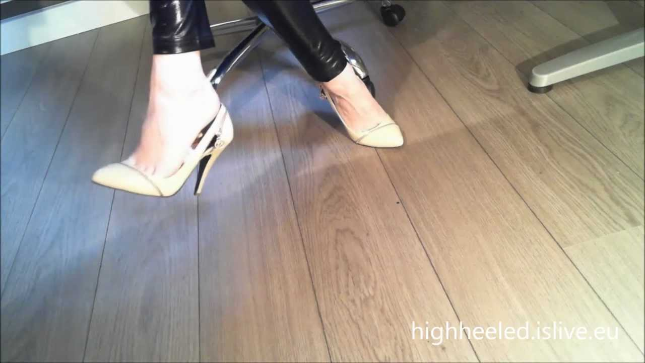 Candid feet shoeplay in nylons at conference - 2 part 9