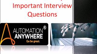 RPA Automation Anywhere Online Test Questions.