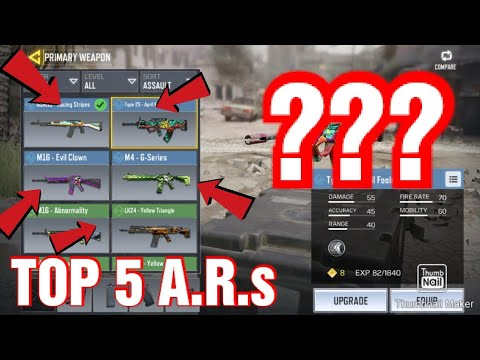 Top 5 A R S In Cod Mobile Road To 100