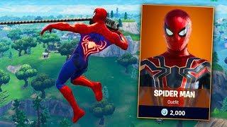 Leaked SPIDERMAN SKIN Fortnite Gameplay (Coming Soon?!)