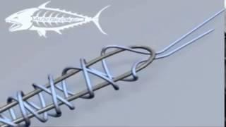 Як зав'язати рибальський вузол Олбрайт анімації