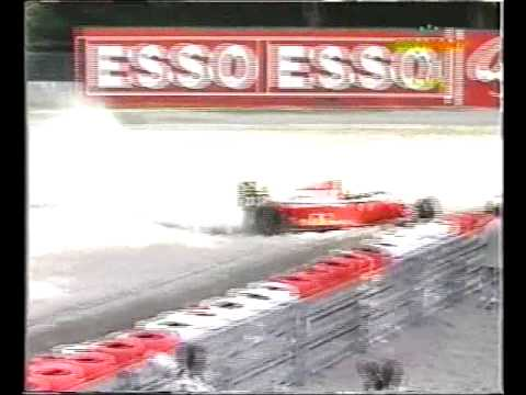 Gerhard Berger (Ferrari F93A) qualifying crash - 1993 Italian Grand Prix
