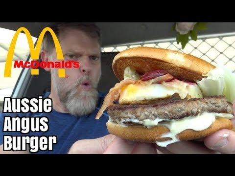 McDonalds Aussie Angus Burger Review Mukbang