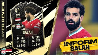 91 TEAM OF THE WEEK SALAH REVIEW! FIFA 21 Ultimate Team