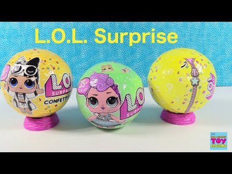 LOL Surprise Dolls Confetti Pop Series 2 & 3 Unboxing Toy Review | PSToyReviews