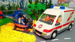 Игрушечные мультики про машинки - Скорая помощь и Полиция спешат на помощь.