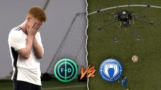 WE PLAYED FOOTBALL AGAINST A DRONE | FOOTBALL DAILY VS EURO FOOTBALL DAILY