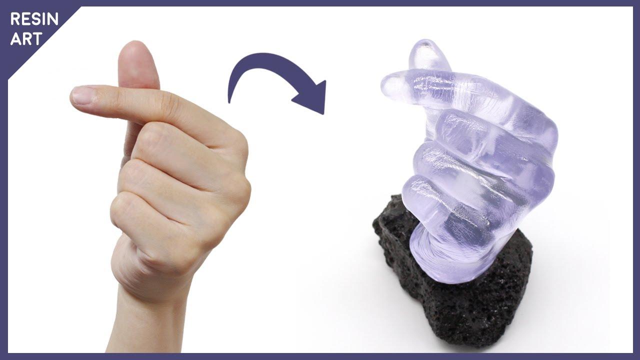 레진으로 손가락 하트 무드등 만들기 | Finger Heart night lamp with Resin (ENG Sub)