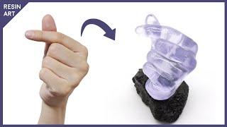 레진으로 손가락 하트 무드등 만들기 | Finger H…
