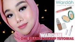 Download Video WARDAH ONE BRAND MAKEUP TUTORIAL | FATYABIYA MP3 3GP MP4