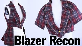 Back to School Style Blazer Recon, ThreadBanger How To