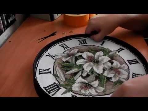 Вышивка схема часы