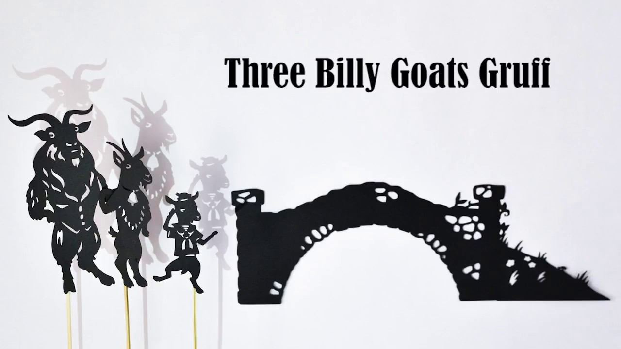 photo regarding Three Billy Goats Gruff Story Printable titled 3 Billy Goats Gruff: Shadow Puppet Perform with Printables