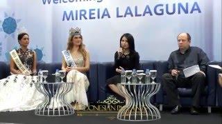 Press Conference Kedatangan Miss World 2015 Mireia Lalaguna