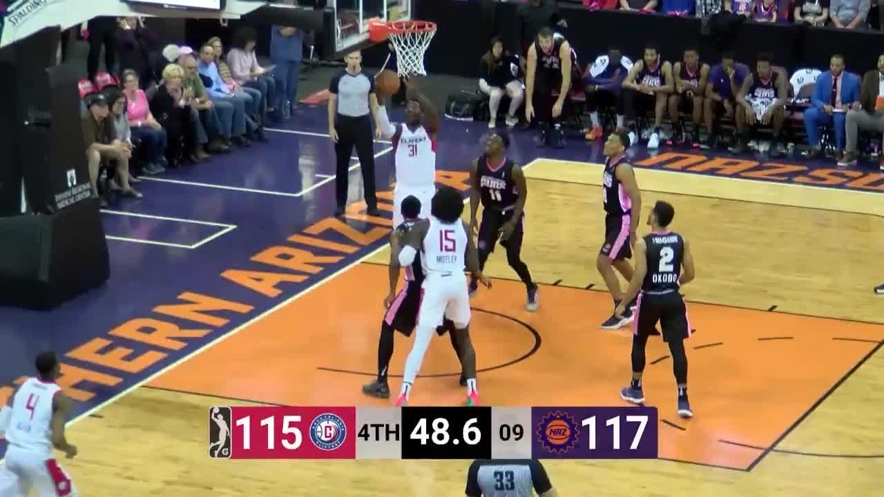 Angel Delgado Posts 19 points & 15 rebounds vs. Northern Arizona Suns