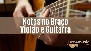 Baixar Notas musicais no braço da guitarra e violão.