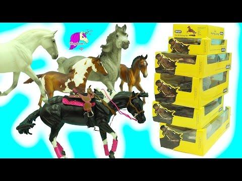 2017 New Traditional Breyer Mare + Foal, Stallion Horses Haul