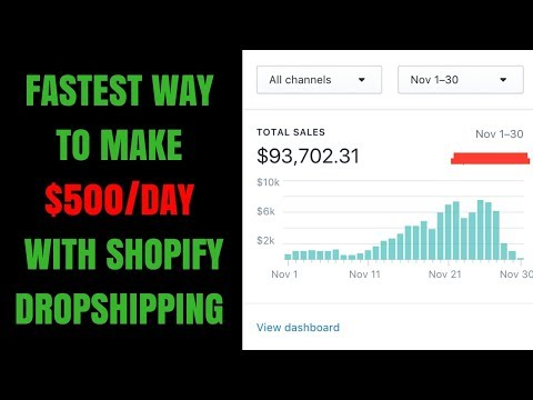 Fastest Way to Make $500 a Day with Shopify Dropshipping