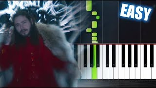 Download Post Malone - rockstar ft. 21 Savage - EASY Piano Tutorial by PlutaX Mp3 and Videos