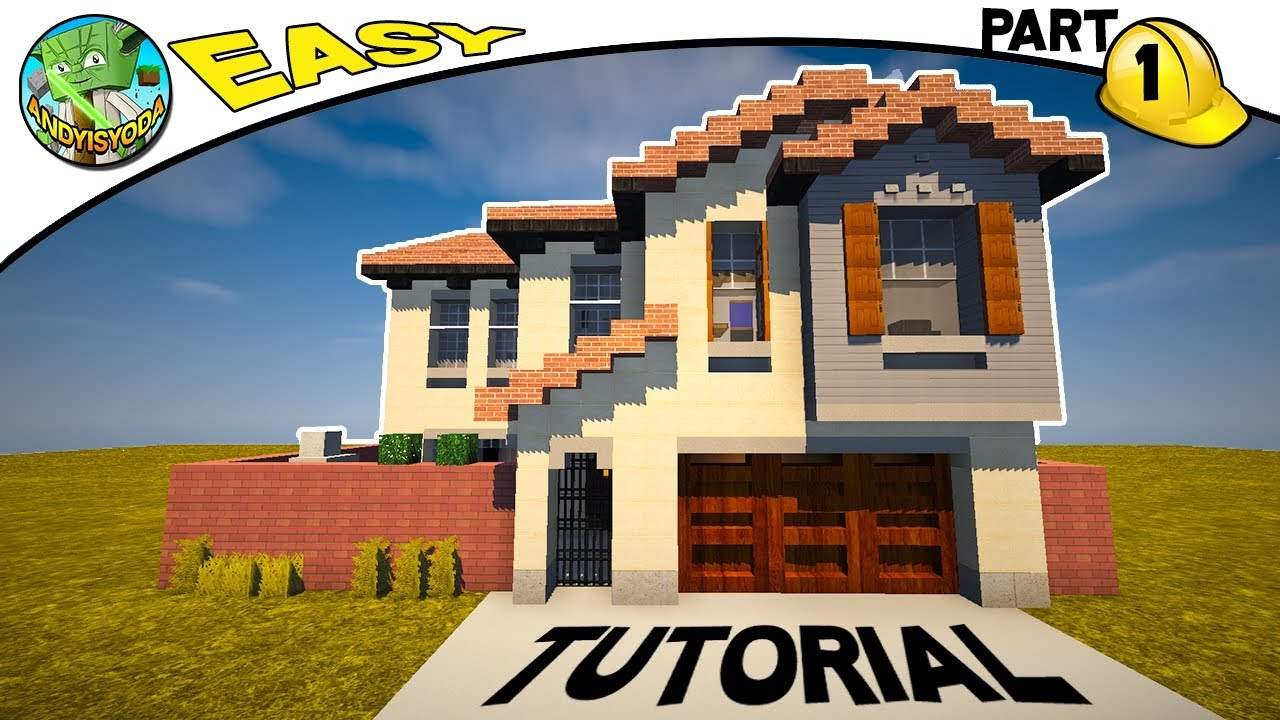Minecraft How To Build A Suburban House Part 1 Youtube