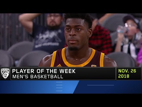 Arizona State's Luguentz Dort collects his first career Pac-12 Men's Basketball Player of the...