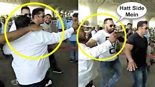 Download Video Salman Khan Bodyguard Shera Pushes Fan At Airport MP3 3GP MP4