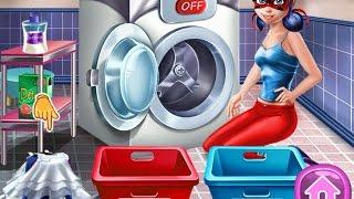 NEW мультики про принцесс—Стирка ЛедиБаг—Игры для детей/Ladybug Washing Costumes