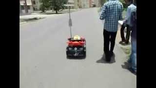 RoboG: The Autonomously Navigating Outdoor Robot Guide. It is teste...