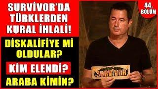 Survivor'da Kural İhlali Yapan Türkler Diskalifiye Mi Oldu? Kim Elendi? Arabayı Kim Kazandı?