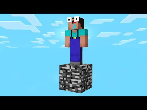SURVIVING IN MINECRAFT WITH ONLY 1 BLOCK!?