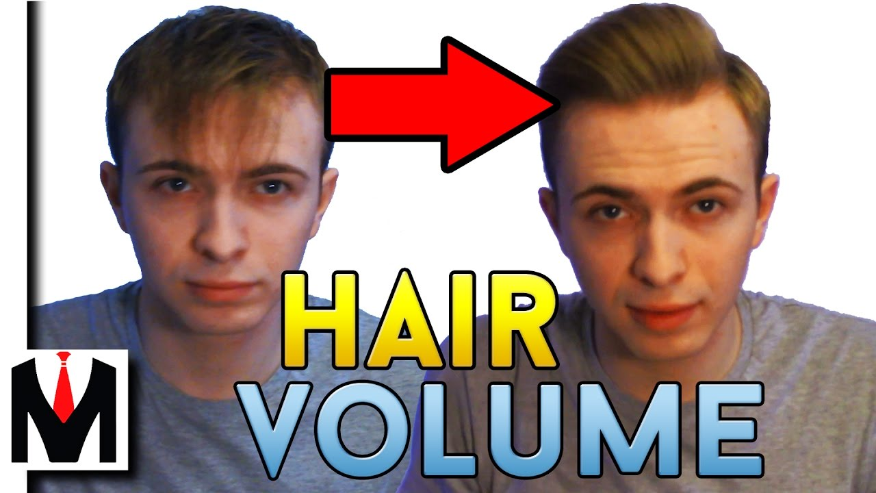 How To Get Massive Hair Volume And Lift  Men's Hairstyle Tutorial To Get  Thicker Hair