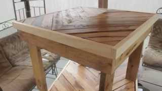 Beautiful tables made from free pallets!