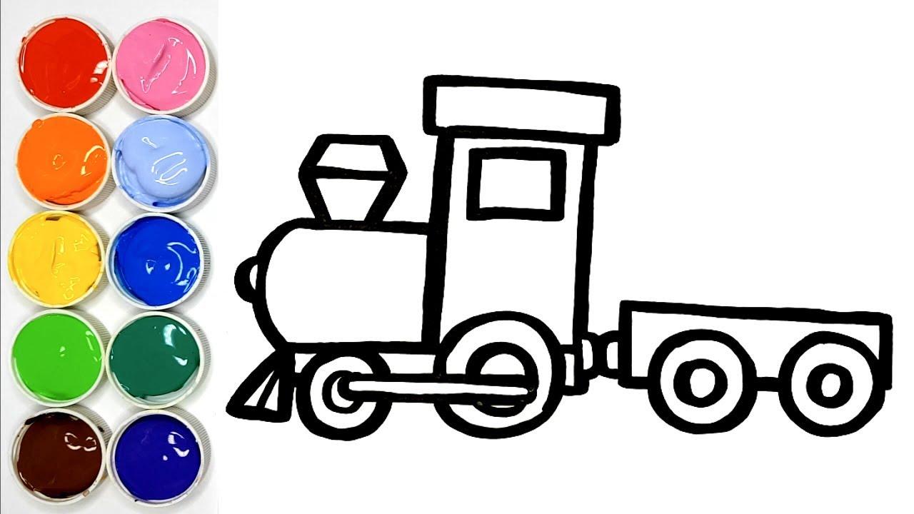 Dessiner Un Train Pour Bebe Coloriage Train Pour Les Enfants Youtube