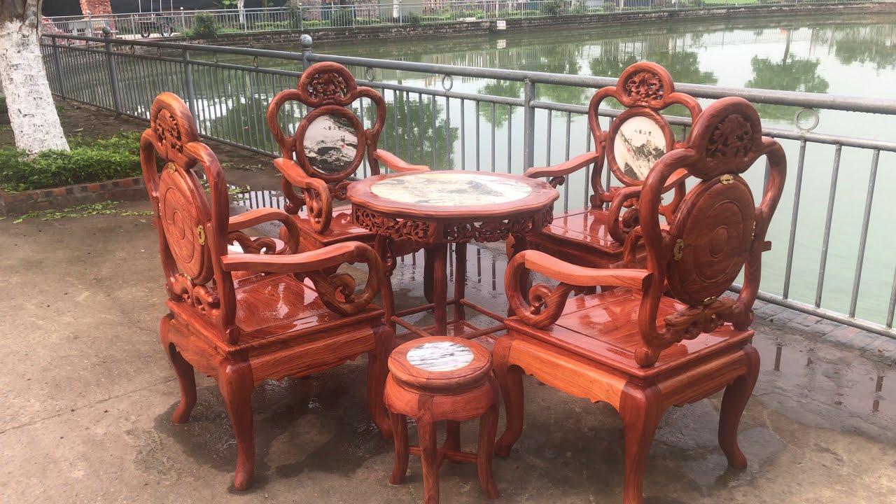 bàn ghế guột nho gỗ hương đá. đồ thờ đẹp quốc trung