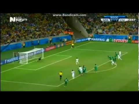 Greece vs Ivory Coast 2-1 (highlights and goals)