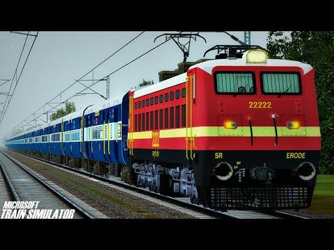 Chennai - New Delhi Grand Trunk Express || Erode WAP4 || Commentary | MSTS Open Rails Journey Part 1